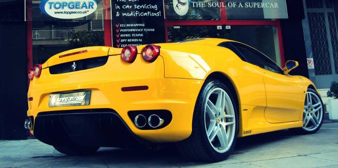 Ferrari 430 tuned to 535hp